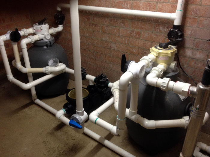 Clear water pond filters and custom water features for Pond filter pump setup
